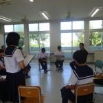 【多良間】多良間中学校1年生 村内職業人講話