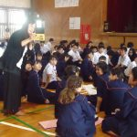 【宜野湾】普天間中学校 マナー講座と職業人講話を行いました!